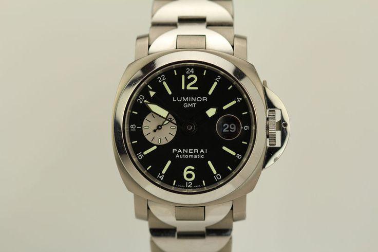 Panerai Luminor GMT Stainless Steel & Titanium Automatic 44mm Dive Watch PAM 161