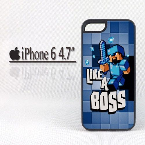 "Minecraft Creeper Blue Like a Boss  For iPhone 6 4.7"" Case"