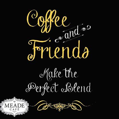 Coffee and friends make the perfect blend. #coffee #meadecafe