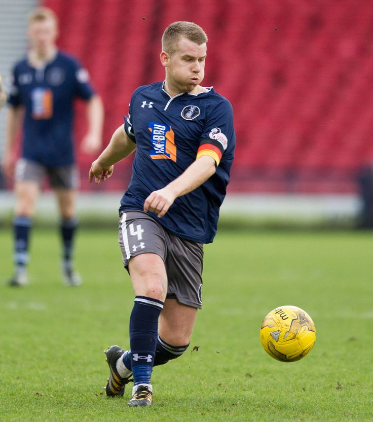 Queen's Park's Jamie McKernon in action during the Ladbrokes League One game between Queen's Park and East Fife.
