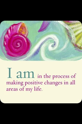 #inspirationalquotes I am in the process of making positive changes in all areas…