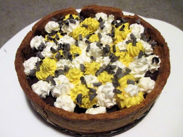 FORNELLI IN FIAMME: TART WITH CHOCOLATE GANACHE AND TORRONCINO