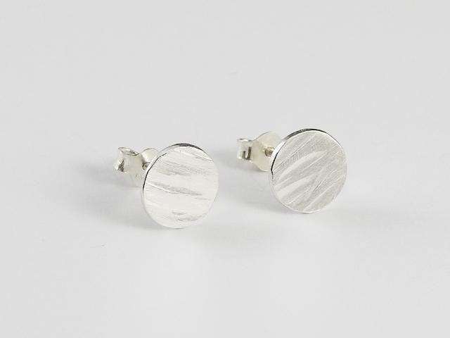 Everyday earrings, stud earrings, Teksturert runde studs