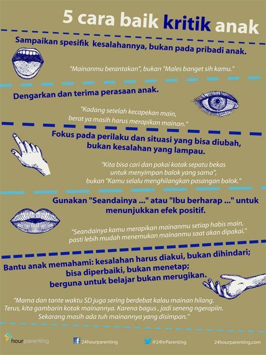 5 Cara Baik Kritik Anak #poster #parenting