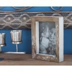 1-Opening Rustic Brown Picture Frames (2-Pack), Browns/Tans