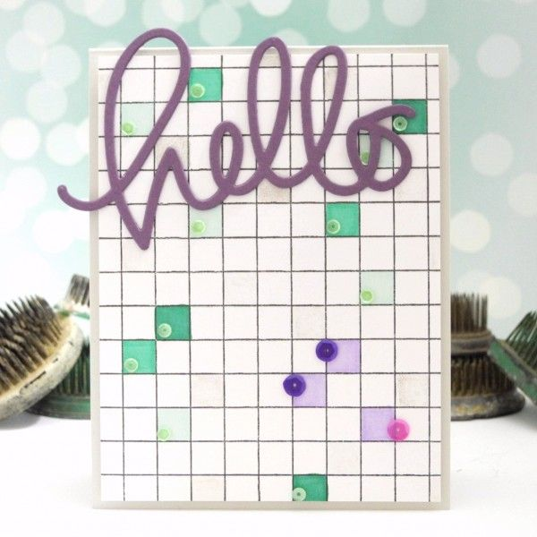 Hello Squared by Jennifer Ingle for the Simon Says Stamp Wednesday Challenge #JustJingle #SimonSaysStamp #PrettyPinkPosh
