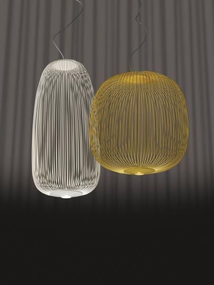 Spokes 1 wisząca owalna (Biała) - Foscarini | Designerskie Lampy & Oświetlenie LED