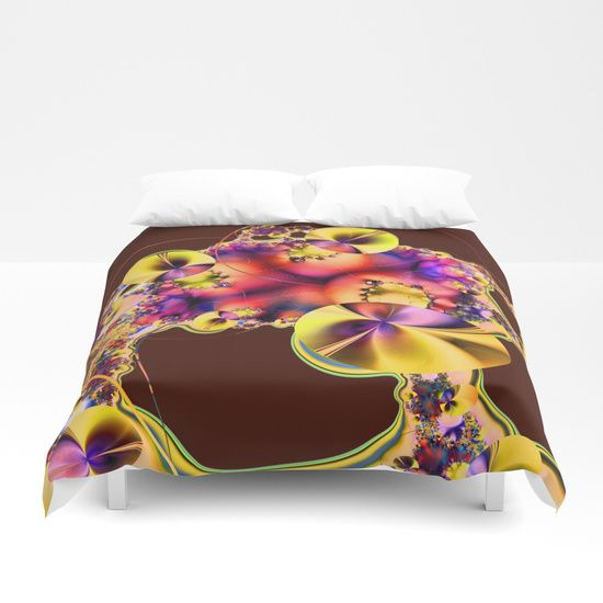 Hibiscus in Yellow Duvet Cover by Terrella.  Cover yourself in creativity with our ultra soft microfiber duvet covers. Hand sewn and meticulously crafted, these lightweight duvet covers vividly feature your favorite designs with a soft white reverse side. A durable and hidden zipper offers simple assembly for easy care - machine washable with cold water on gentle cycle with mild detergent. Available for King, Queen, Full, Twin and Twin XL duvets - duvet insert not included.