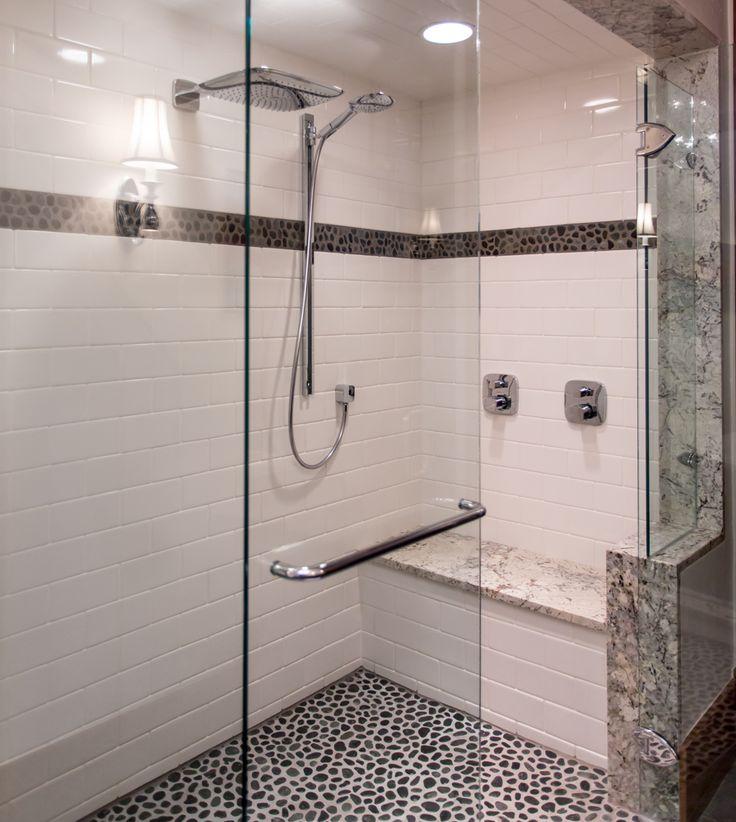 Mountainhome Designs: Inlaid Pebble Flooring, Heated Bench Seat, Overhead Rain