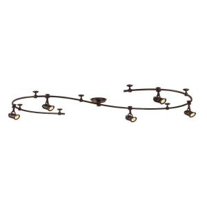 5-Light 10 ft. Antique Bronze Retro Pinhole Flexible Track Lighting Kit-EC6827ABZ at The Home Depot