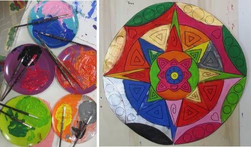 """La parola mandala deriva dal sanscrito e significa """"ciò che tiene assieme""""; rappresenta un disegno simbolico universale, la ruota o il cerchio della vita. Le forme e i colori del mandala sono un invito al gioco e permettono al bambino di concentrarsi, ottenendo equilibrio e tranquillità. Ci sono varie modalità per realizzare un mandala, in questo p..."""