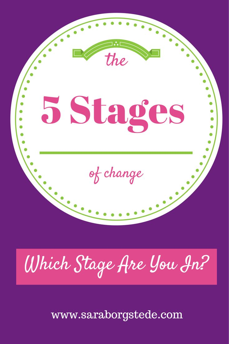 Are you trying to make a life improvement, such as eat better or fit in exercise? Backed by scientific research, find out which of the 5 stages of change you are currently in, and what to do to move to the next stage.