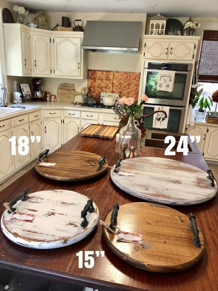 Diy Round Wooden Tray With Handles