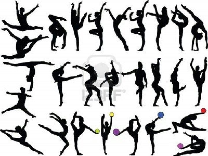 The gymnastics silhouttes                                                       …