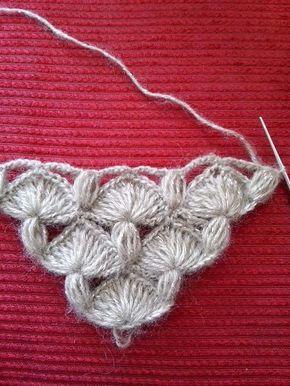 Lindo ponto de crochê para xales, lenços, etc.