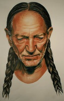 Willie Nelson made with Letraset Markers