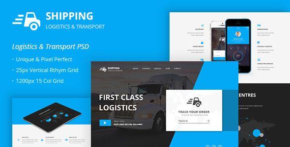 SHIPPING – LOGISTICS & TRANSPORT PSD TEMPLATE