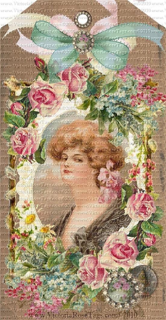 Victoria Rose Tags - Romantic Vintage Inspired Exclusive & Original Designs Hang Tags Printables