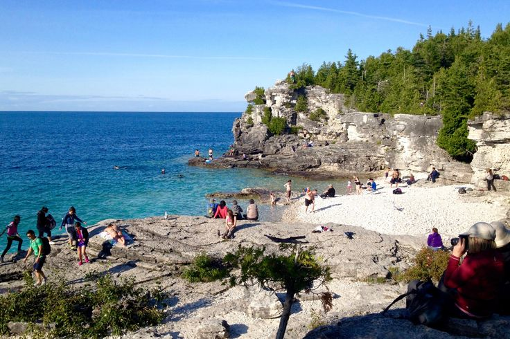 Views of Indian Head Cove, Tobermory, Canada | www.everyfootstepanadventure.com