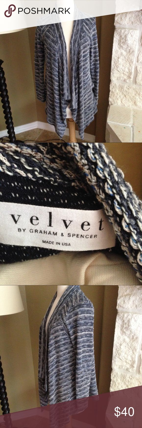 Velvet Graham Spencer Open Front Cardigan S Velvet Graham Spencer Open Front Cardigan S. Please ask questions before you buy, thanks! Velvet by Graham & Spencer Sweaters Cardigans
