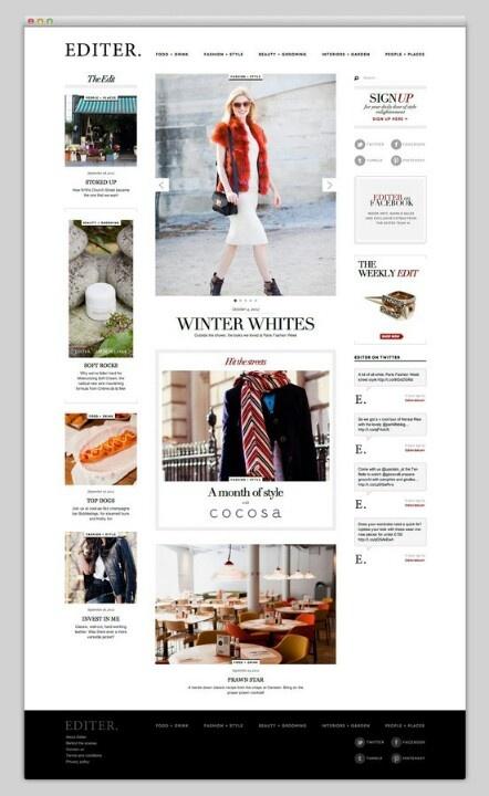 #Fashion magazine #webdesign