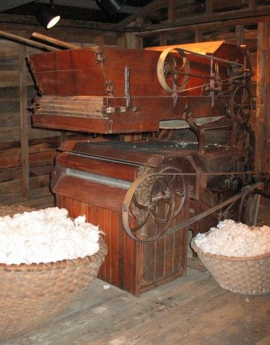Well, it actually increased slavery since more cotton could be grown and processed.  However, farm innvation started with the Gin and we know what happened to farm workers. Cotton Gin Photos, South Carolina SC