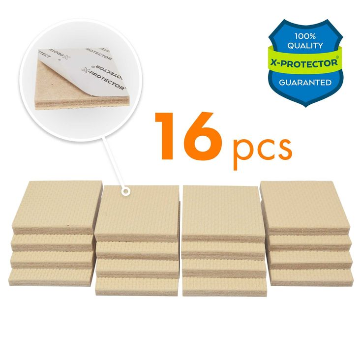 """FURNITURE GRIPPERS X-PROTECTOR – PREMIUM 16 pcs 2"""" NON SLIP FURNITURE PADS! Best SelfAdhesive Rubber Feet Furniture Feet – Ideal Non Skid Furniture Pad Floor Protectors for Keep in Place Furniture"""