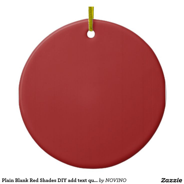 Plain Blank Red Shades DIY add text quote photo Double-Sided Ceramic Round Christmas Ornament
