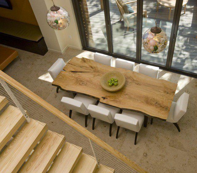 table salle manger en bois brut super