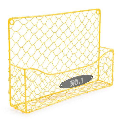 Porte-courrier Numéro 1 jaune 13 x 36 cm