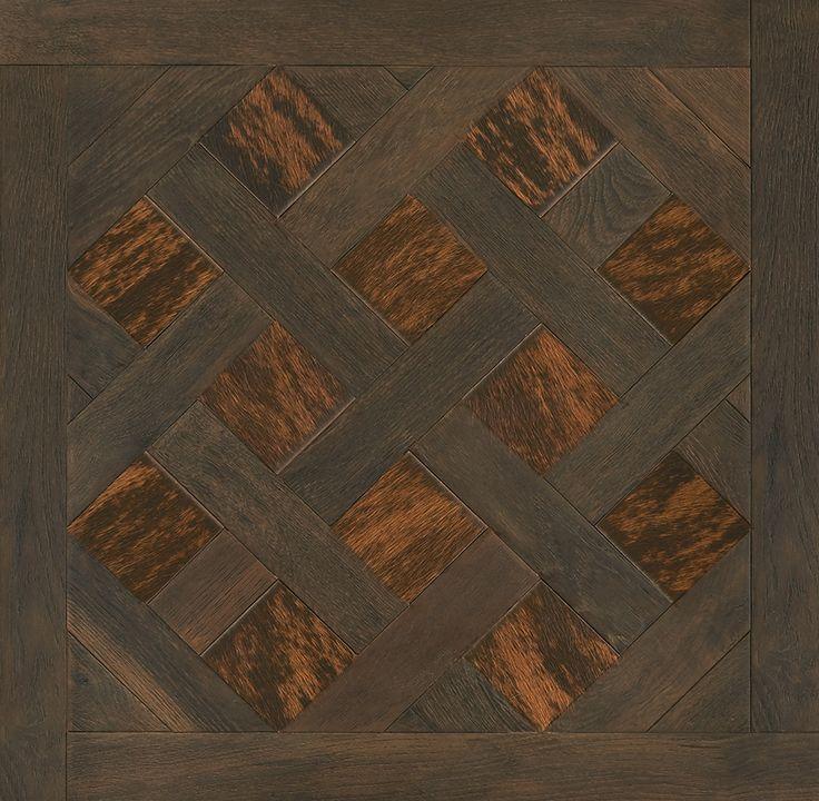 Soirée d'Automne : Dalle Versailles Manoir et Simili cuir peau de vache #parquet #art #interiordesign #interiorarchitecture #wood #woodfloor #paris #carresol #dalledeversailles