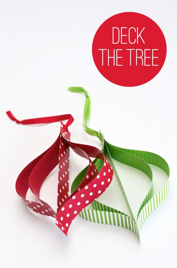Tutorial to make these Mod Paper Ornaments at PagingSupermom.com #christmas #orn… | Diy ...