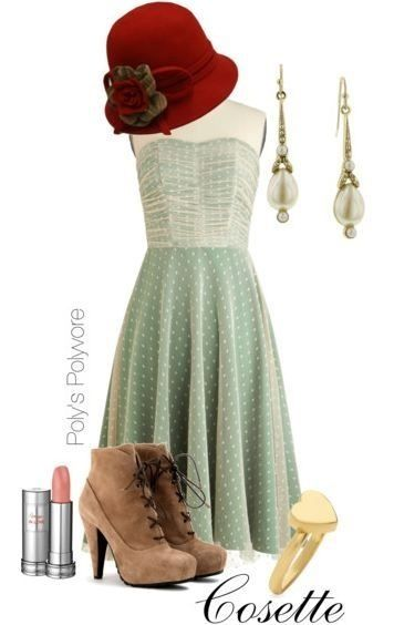 Cosette from Les Miserables inspired outfit from The Broadway Wardrobe