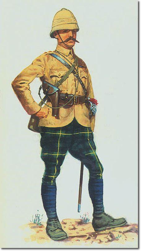 Lieut-Col Mathias, commanding officer of the 1st Battalion Gordons. Tirah Campaign. 1897. By Douglas Anderson