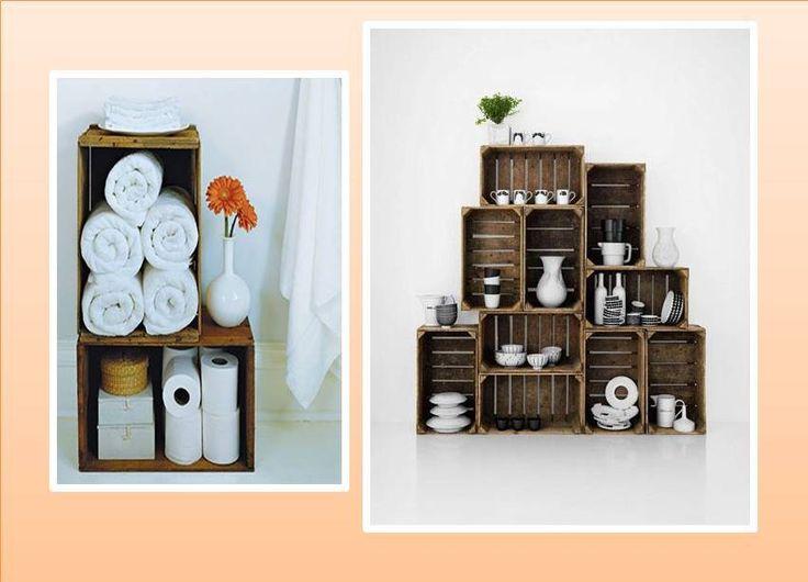 A reciclar muebles hechos con cajones de verdura for Muebles reciclados