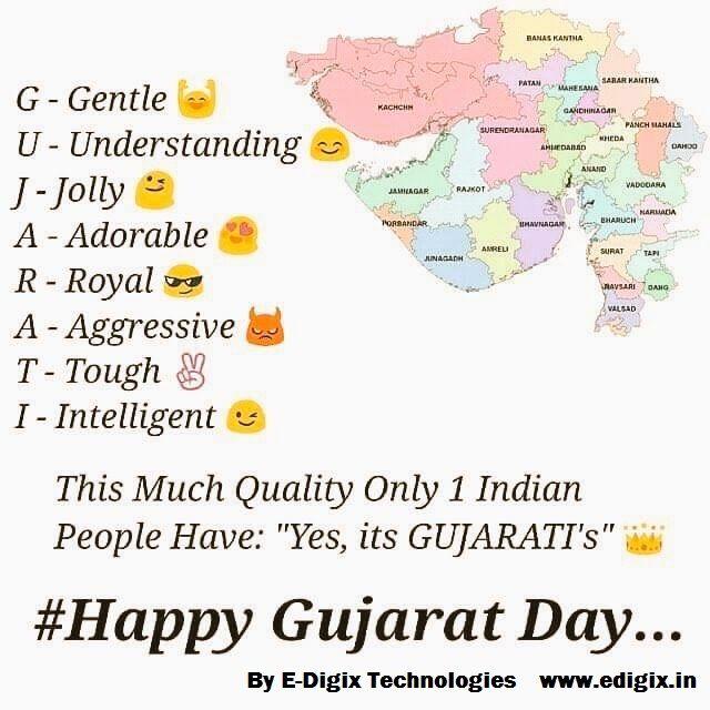 Happy Gujarat Day to all my #gujju 's Friends #GujaratDay #GujaratFoundationDay #JayJayGarviGujarat #ProudGujju