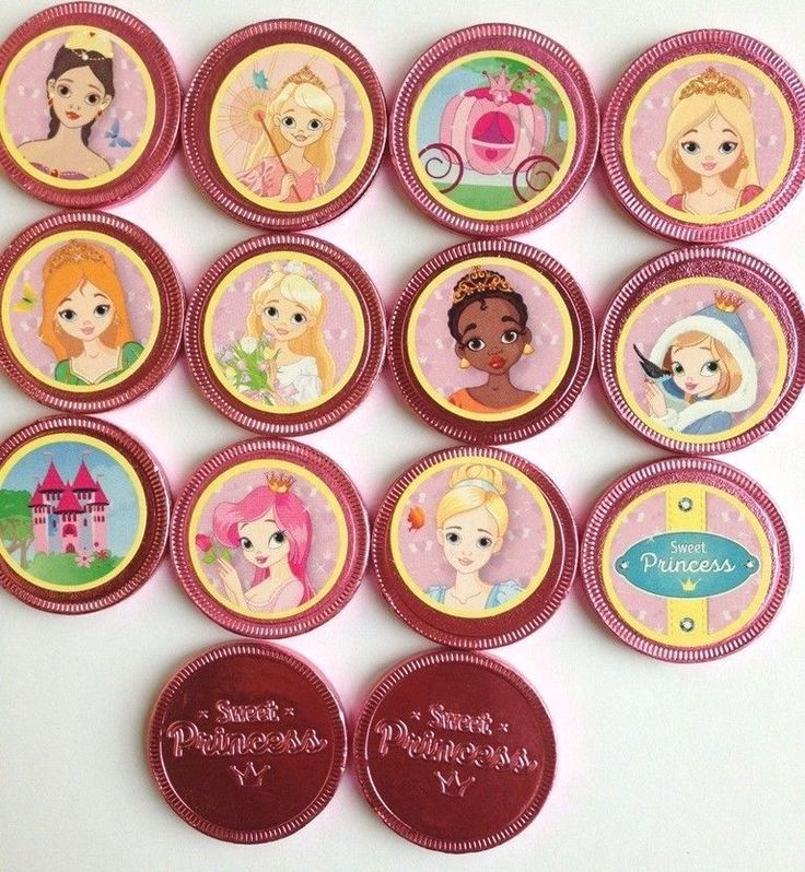 PRINCESS PARTY CHOCOLATE COINS