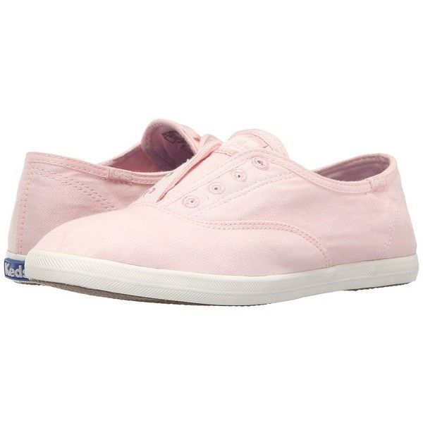 Keds Chillax (Strawberry Pink) Women's Slip on  Shoes (58 CAD) ❤ liked on Polyvore featuring shoes, sneakers, keds sneakers, keds, pink trainers, flexible shoes and pink sneakers