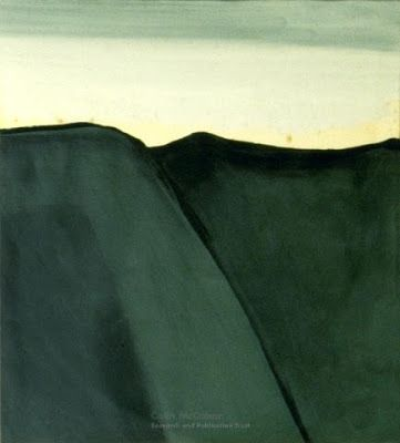 'North Otago Landscape' (1967) by New Zealand painter Colin McCahon (1919-1987). via Junk for Code