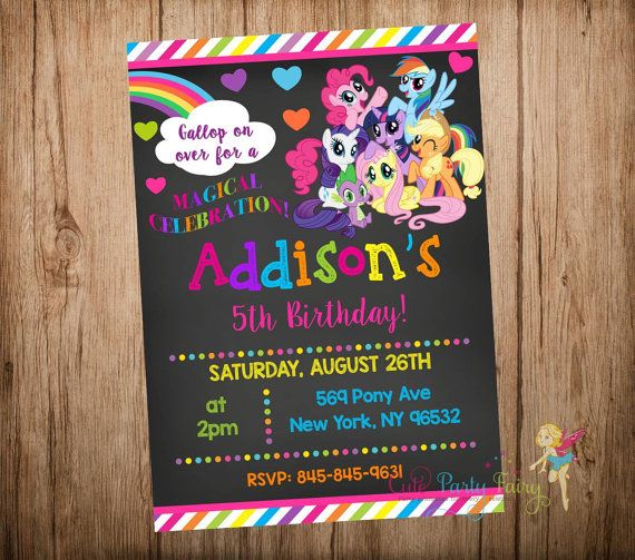 Hey, I found this really awesome Etsy listing at https://www.etsy.com/listing/234181814/my-little-pony-birthday-invitation-my