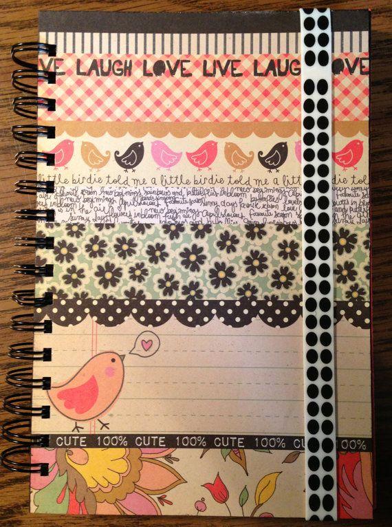 A Little Birdie Told Me  Handmade Smash Journal by jadesfunkijunk, $14.00