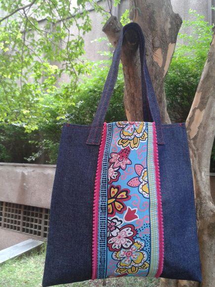 Sacola Jeans | Damadah | 384844 - Elo7