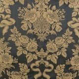 Lee Jofa Silk+Cotton Condotti Charcoal Antique Gold Damask Upholstery Drapery Fabric from Italy