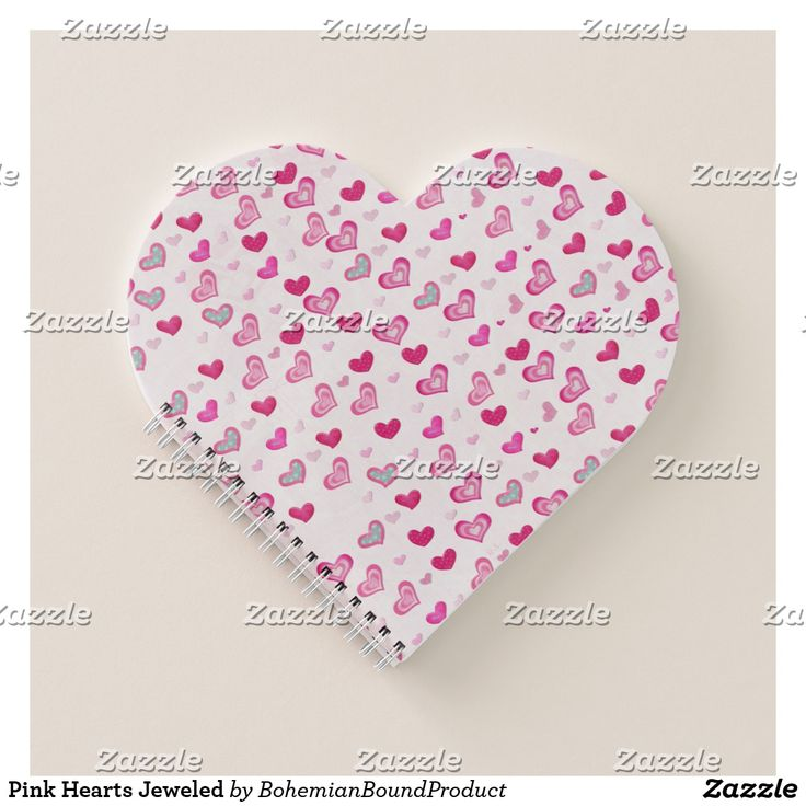 Pink Hearts Jeweled Notebook