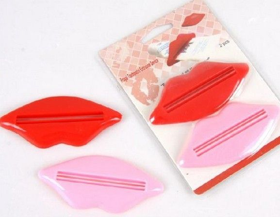 >> Click to Buy << 2pcs/Lot Sexy Hot Lip Kiss Bathroom Accessories Plastic Tube Cream Squeezer Toothpaste Dispenser #Affiliate