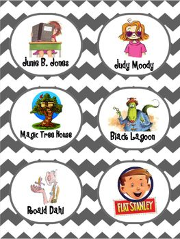 Over 50 black and white chevron library book bin labels that work great in a classroom library. Just print out on card stock, laminate, and attach to your book bins. These labels make it easy for you students to find books they want to read in your classroom library!