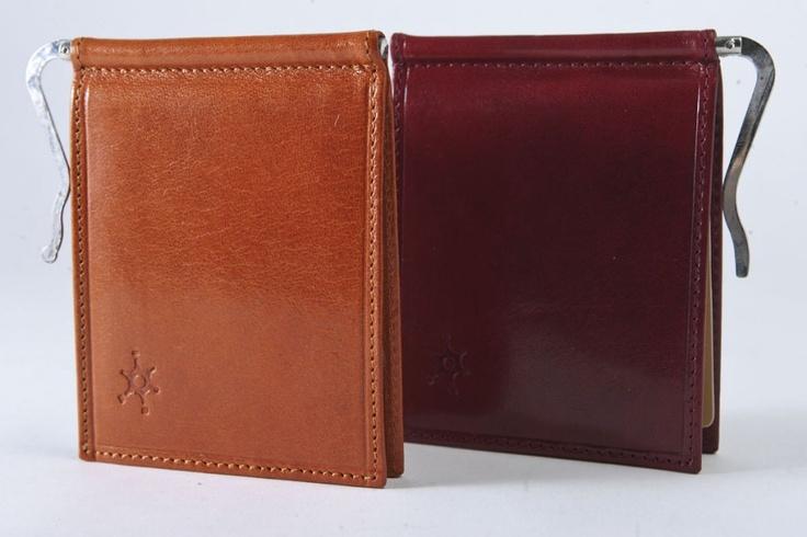 Americano - Pratico ed elegante portafogli per uomo dotato di doppio porta carte di credito con molla porta soldi. #portafogli