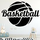 Funny Basketball Fashion Art Wall Sticker for Boys Bedroom Indoor Stadium Home #… – Home Décor