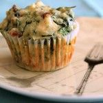 Scrummy spinach and feta muffins!! I added sundied tomatoes instead of celery