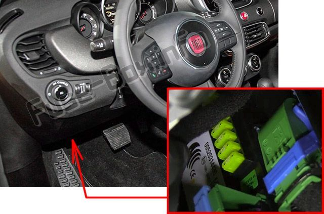 Fiat 500x 2014 2019 Fuse Box Location With Images Fuse